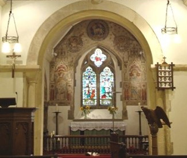 Inside St Laurence Church, Telscombe Village